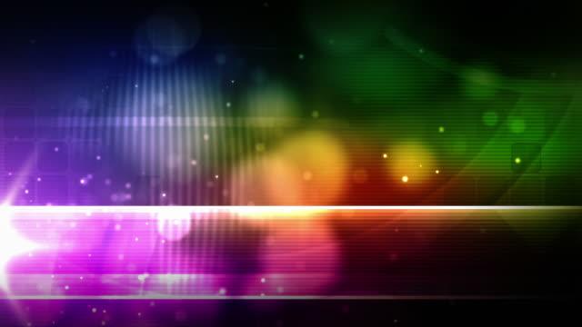 bright background loop - night glow rainbow (full hd) - spectrum stock videos & royalty-free footage