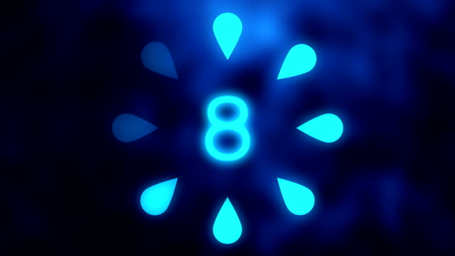 Bright blue countdown