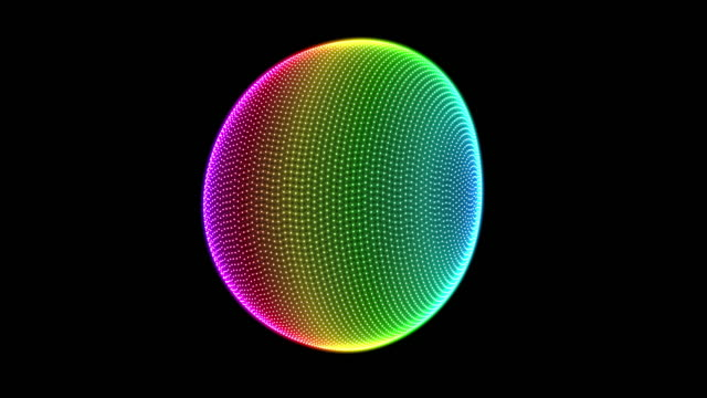bright colorful 3d sphere shape spinning seamless loop - spectrum stock videos & royalty-free footage