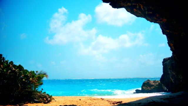 Bright colorful Caribbean Cove Island escape in Barbados