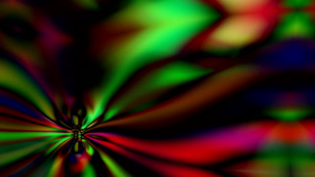 Bright colors and forms move and undulate on screen in mesmerizing ways.