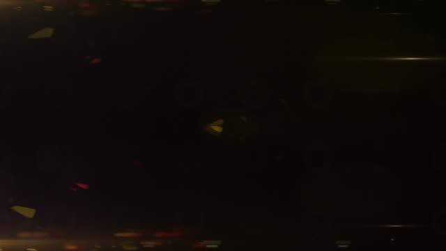 Helle Flutlichtanlage Hintergrund Loop (Nahaufnahme)-Gold Glow