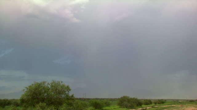 ws bright forked lightning over landscape / tucson, arizona, usa - forked lightning stock videos & royalty-free footage