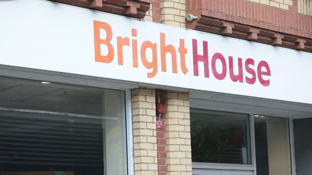 bright house sign outside closed store in aldershot, petersfield, uk on monday, august 25, 2020. as britain enters a period of deep recession, with... - aldershot stock videos & royalty-free footage