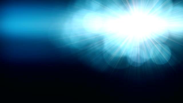 明るいレンズ フレアの背景 - フラッシュ点の映像素材/bロール