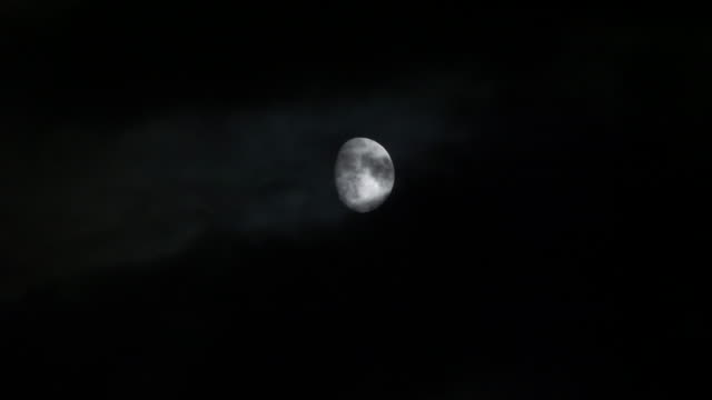 bright moon on the horizon. moonlight and fast moving clouds. - moonlight stock videos & royalty-free footage