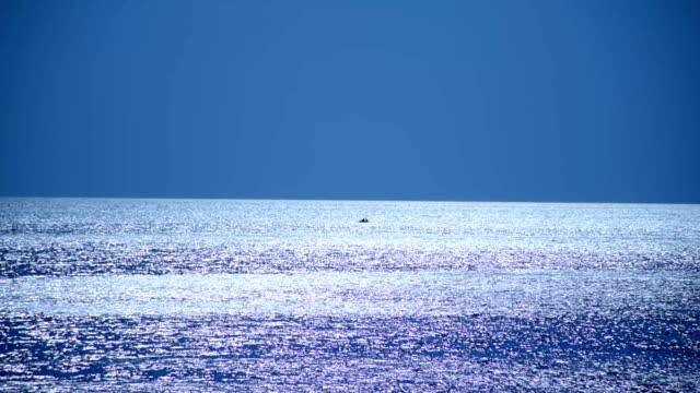 Bright moon over the sea