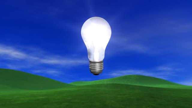 bright new idea - energy efficient lightbulb stock videos & royalty-free footage