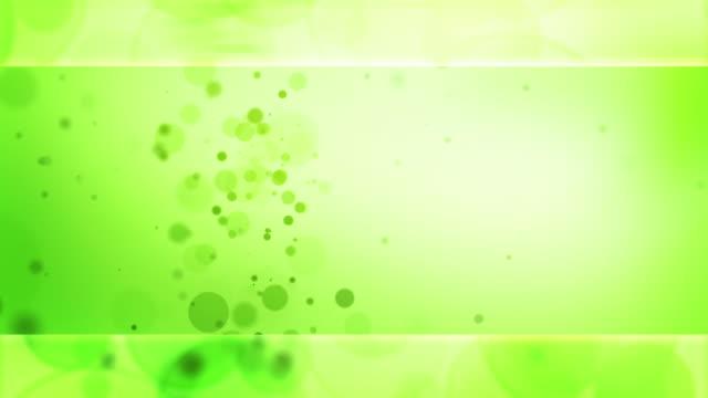vídeos de stock, filmes e b-roll de partícula brilhante loop-verde (hd - full hd format