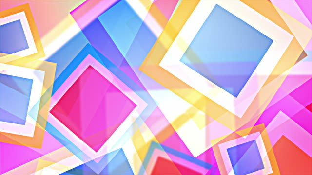 Bright Squares Background Loop - Pastel Rainbow (Full HD)