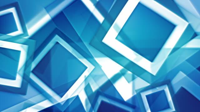 vidéos et rushes de squares fond lumineux bride bleu éclatant (full hd - surexposition effet visuel