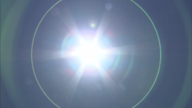Bright Sun With Lens Flare