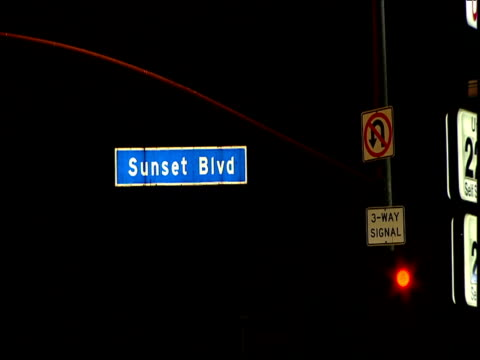 Bright Sunset Boulevard sign Sunset Strip