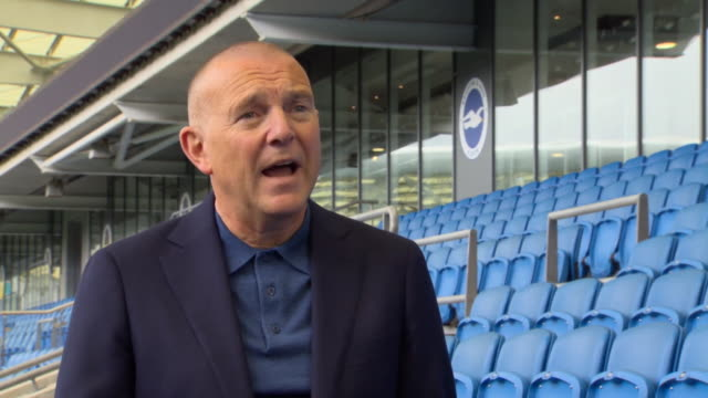 brighton and hove albion fc ceo paul barber urging fans to use local radio and highlights programmes to follow games when the new premier league... - match sport stock videos & royalty-free footage