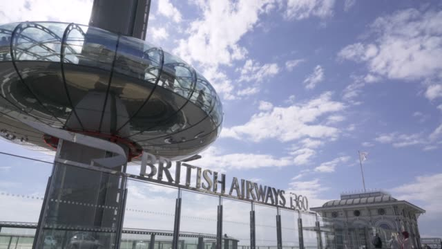 brighton attraction, british airways i360, brighton, east sussex, england, united kingdom, europe - communications tower stock videos & royalty-free footage