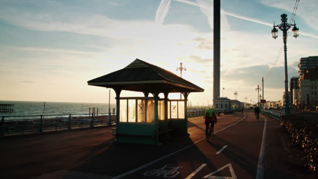 Brighton Bike Path at Sunset