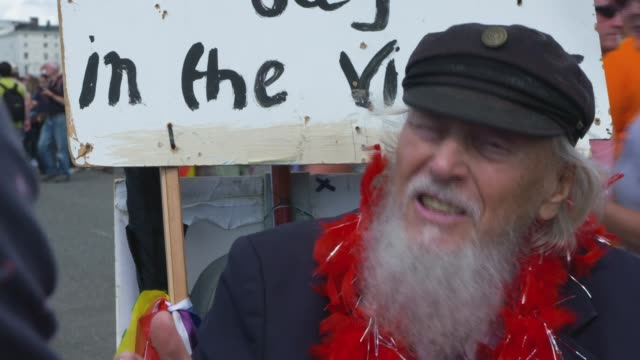 George Montague calls himself oldest gay in the village ENGLAND East Sussex Brighton EXT **Music heard intermittently SOT** **Montague interview...