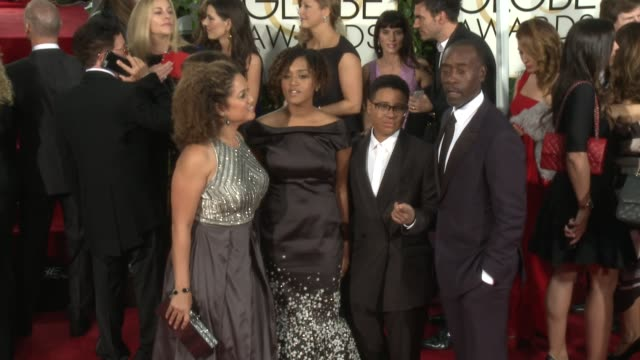 Brigid Coulter Don Cheadle at the 72nd Annual Golden Globe Awards Arrivals at The Beverly Hilton Hotel on January 11 2015 in Beverly Hills California