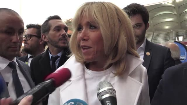 Brigitte Macron attends a charity football match in Reims and defends her husband's decision to take a ski trip before last weekend's yellow vest...