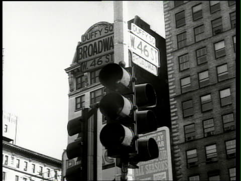 brill building - 1955 stock-videos und b-roll-filmmaterial