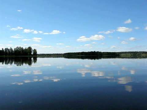 Brilliant still summer Lake of Finland