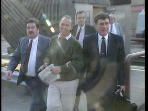 four sentenced itn lib seq parry as arriving back in england after extradition from spain with police and into van cms intvw gordon parry sof about... - mat stock videos and b-roll footage