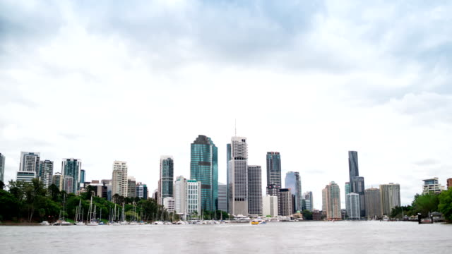 time lapse: brisbane business district - surface level stock videos and b-roll footage