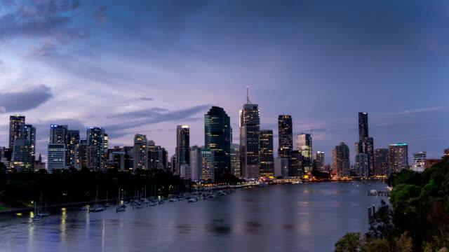TIME LAPSE: Brisbane skyline sunset