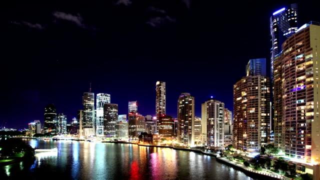 brisbane skyline - financial district stock videos & royalty-free footage
