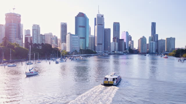 brisbane - skyline stock videos & royalty-free footage