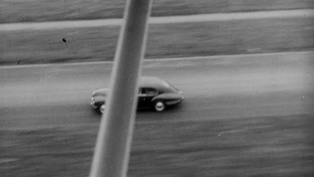 1952 aerial bristol 401 driving on highway / united kingdom - bristol england stock videos and b-roll footage
