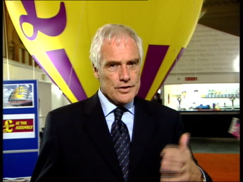 robert kilroy-silk mep interview sot - the tory party is a dying party, there was a suggestion today that we might want to make some deal with those... - ロバート・キルロイ=シルク点の映像素材/bロール