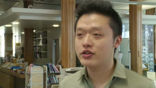 bristol students raise £1500 to send cleaner on holiday to jamaica england bristol university int hao che wei interview sot - bristol university stock videos and b-roll footage