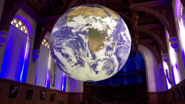 bristolbased artist luke jerram's huge art installation 'gaia' comes to the university of bristol measuring seven metres in diameter and composed of... - circle stock videos & royalty-free footage