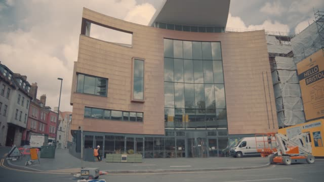 bristol's colston hall, a city landmark linked to the notorious 17th-century slave trader edward colston, with its infamous name removed, in bristol,... - infamous stock videos & royalty-free footage