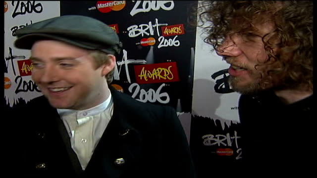 london earls court int katie melua interview sot talking about her throat kasier chiefs interview being asked about paul weller sot he's been very... - pink singer stock videos and b-roll footage