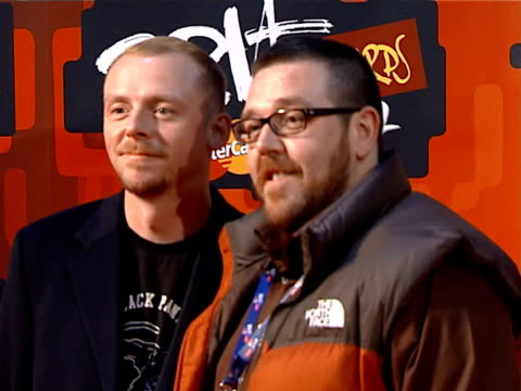 photocalls and interviews simon pegg and nick frost photocall - simon pegg stock videos & royalty-free footage