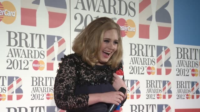 brit awards 2012 press room london uk 02/21/12 brit awards 2012 press room at 02 arena on february 21 2012 in london england - event capsule stock videos & royalty-free footage