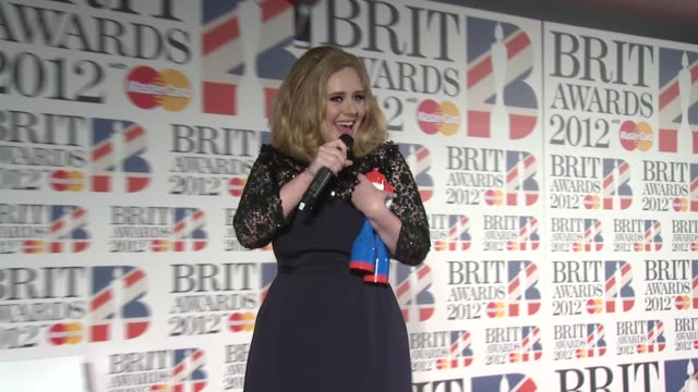 brit awards 2012 press room london uk 02/21/12 event capsule clean brit awards 2012 press room at 02 arena on february 21 2012 in london england - event capsule stock videos & royalty-free footage
