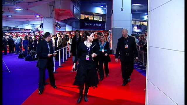 brit awards broadcast live for first time in 18 years england london earls court int oasis band arriving at brit awards 2007 and introduced to... - channel 4 news stock videos and b-roll footage
