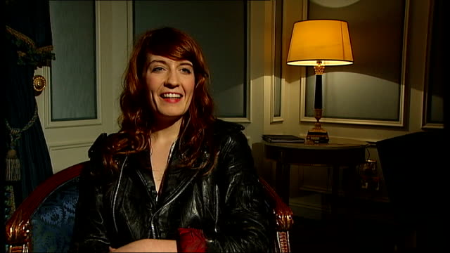 Florence and the Machine interview Florence interview SOT didn't expect award been writing music a long time takes ages to get signed been gigging...
