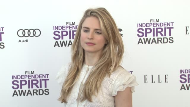 brit marling at the 2012 film independent spirit awards - arrivals on 2/25/12 in santa monica, ca, united states. - independent feature project stock videos & royalty-free footage