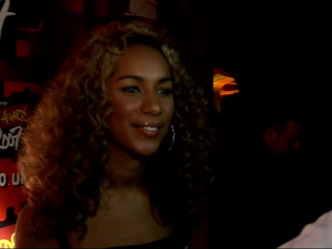 brit nominations launch party: red carpet interviews; leona lewis speaking to press sot leona lewis interview sot - i will be going over to america... - バンド アメリカ点の映像素材/bロール