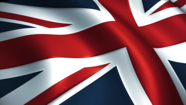 Britain Flag Waving Loopable