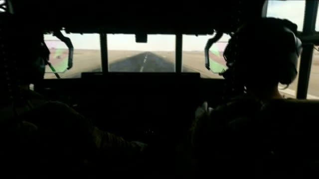 vídeos de stock e filmes b-roll de britain formally ends combat operations camp bastion handed over to afghan control afghanistan helmand province camp bastion int cbv british air... - helmand