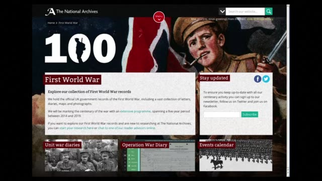 britain on tuesday began posting online more than 15 million pages of diaries written by world war i army officers announcing plans to recruit an... - diario video stock e b–roll