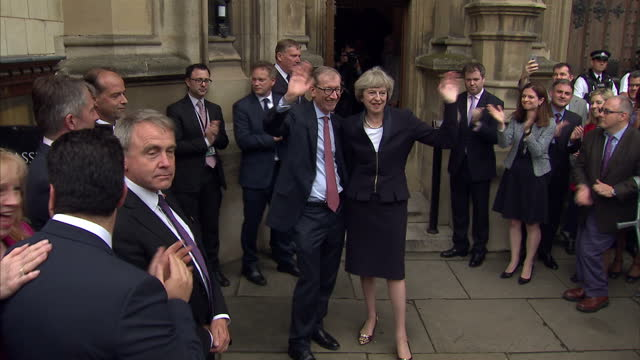 britain will have a new prime minister tomorrow theresa may has been named leader of the country's governing conservative party and says she's... - husband stock videos & royalty-free footage