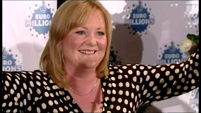 """stockvideo's en b-roll-footage met britain's biggest-ever lottery winner has said she is """"flabbergasted"""" by her £35.4m win and she had to put her head between her knees to calm down... - loterijlootje"""