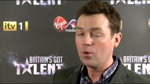 britain's got talent 2012: launch event; int britain's got talent judges - alesha dixon, amanda holden, simon cowell and david walliams stand... - britain's got talent stock-videos und b-roll-filmmaterial