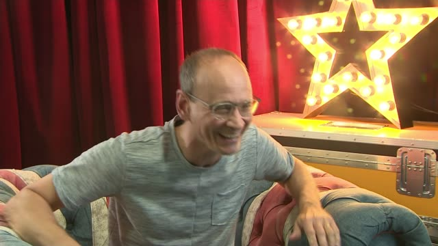 britain's got talent finale behind the scenes england london int steve royle interview sot steve and reporter - itv london tonight stock videos & royalty-free footage